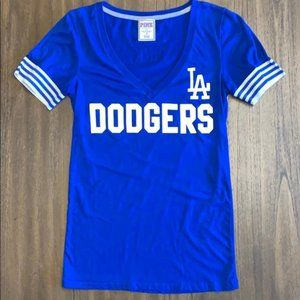 VS PINK MLB LA Dodgers V Neck Shirt S